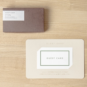 【ゲストカード│名入れなし】LA グリーン│30枚セット