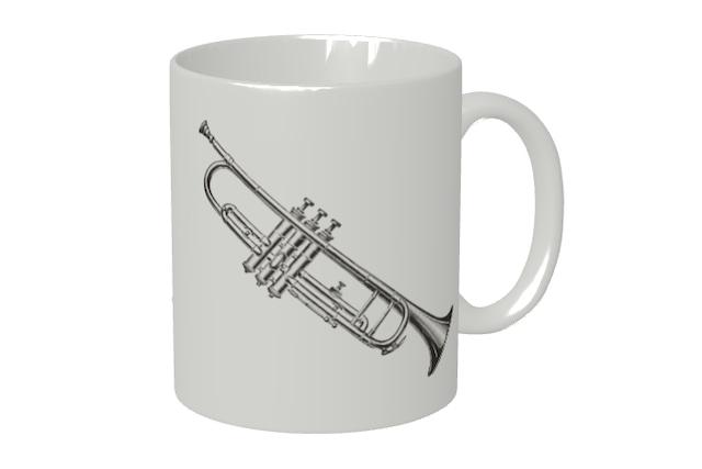 (名入れ無し)トランペットのマグカップ
