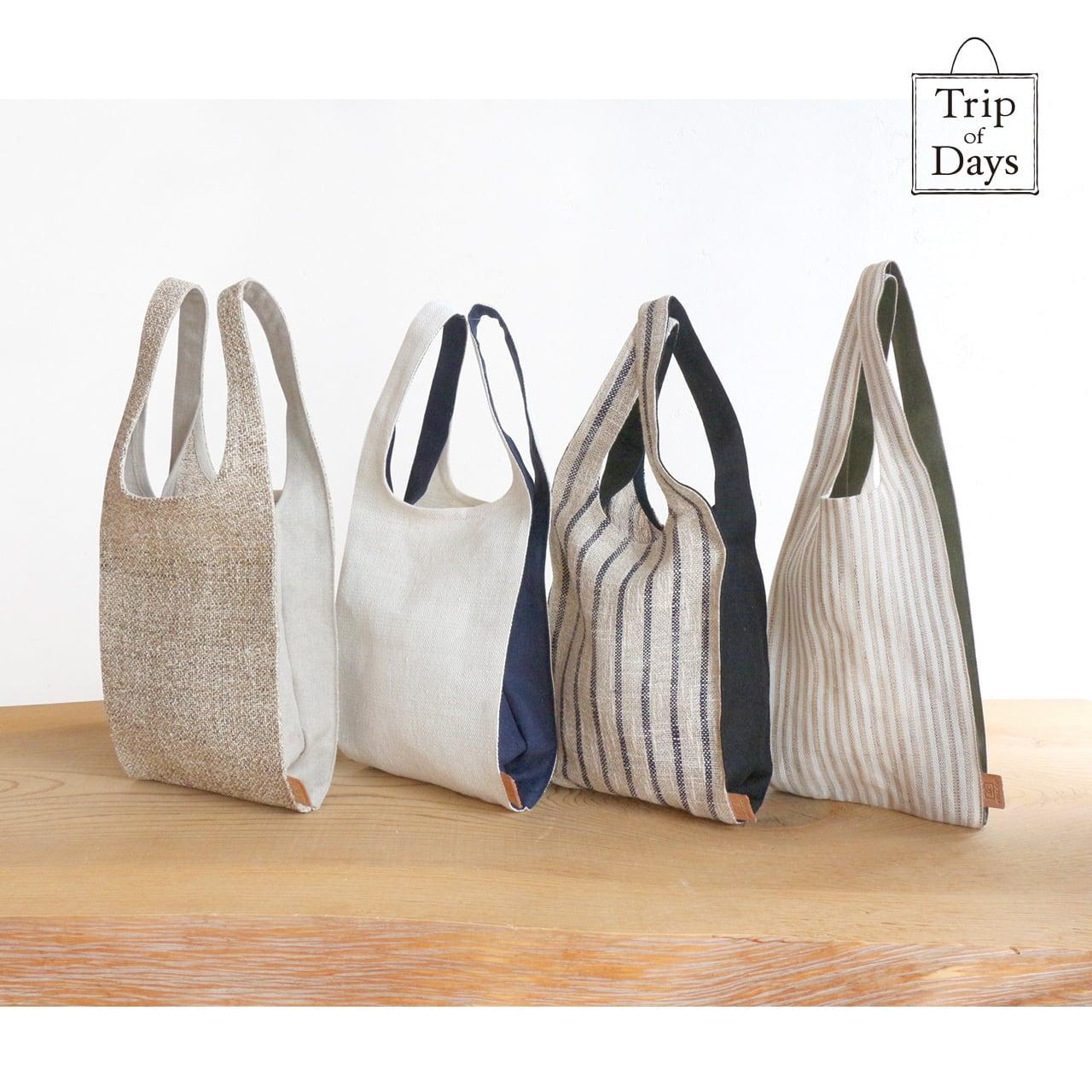 one mile bag   size S   生成しま × 深緑