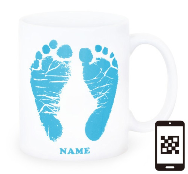 ai mug-white   A-type (LIGHT BLUE) QRコード付き