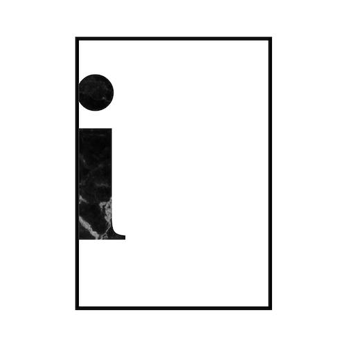 """""""i"""" 黒大理石 - Black marble - ALPHAシリーズ [SD-000536] A4サイズ ポスター単品"""