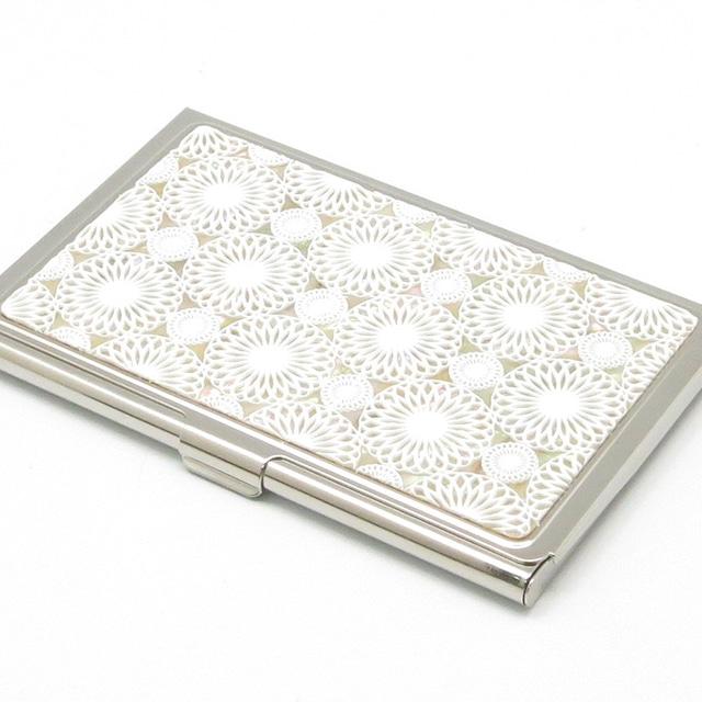 天然貝 名刺カードケース(鞠)シェル・螺鈿アート