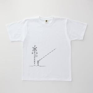 鉄道Tシャツ 踏切 ( White × Dark Gray )