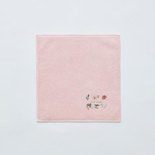 今治タオルハンカチ〈ガーデン/ピンク〉