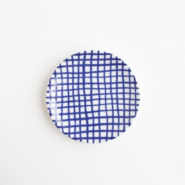 豆皿(瀬戸焼)/ チェック細【Marianne Hallberg(マリアンヌ・ハルバーグ)】 北欧ブランド 日本製