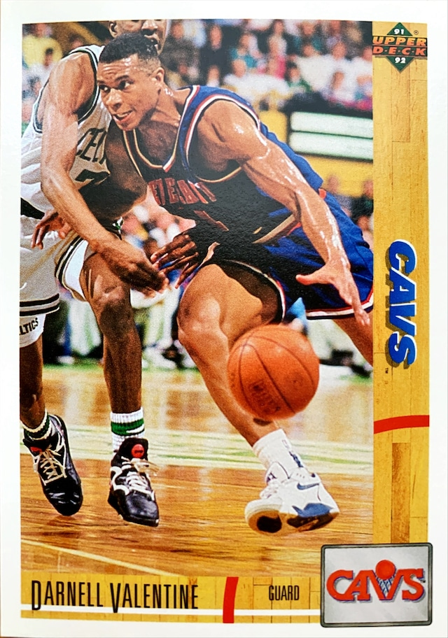 NBAカード 91-92UPPERDECK Darnell Valentine #227 CAVS