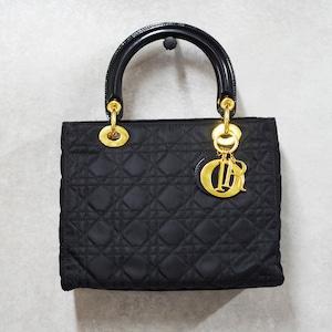 Christian Dior ディオール レディディオール 2WAYハンドバッグ ナイロン ブラック