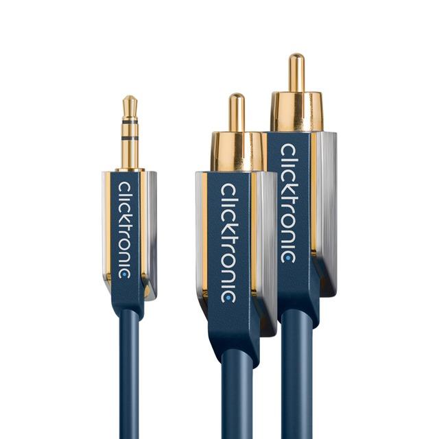 (70667)オーディオ変換ケーブル(3.5mm-RCAオス)2.0m :: Clicktronic