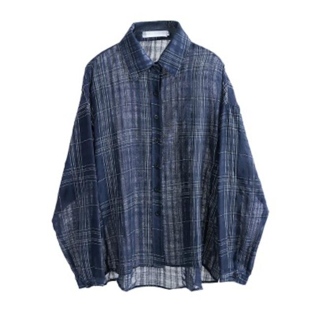 【ブラウス・シャツ】ミディアム 長袖 襟付き トップス ブラウス・シャツ 春夏