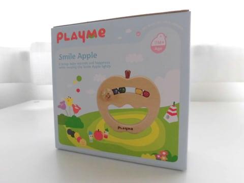 木のおもちゃ Play Me Toy プレイミートイズ社 スマイルアップル ガラガラ 木製ラトル