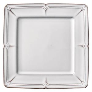 Koyo ラフィネ スクエア プレート 皿 約27.5cm スモークホワイト 15910061