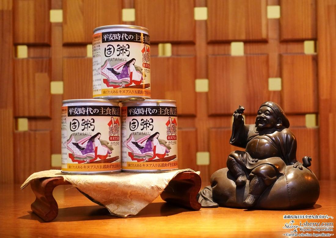 【健康食品】平安固粥 キアヌ入り五穀あずき玄米がゆ~平安時代の主食復活 3缶セット