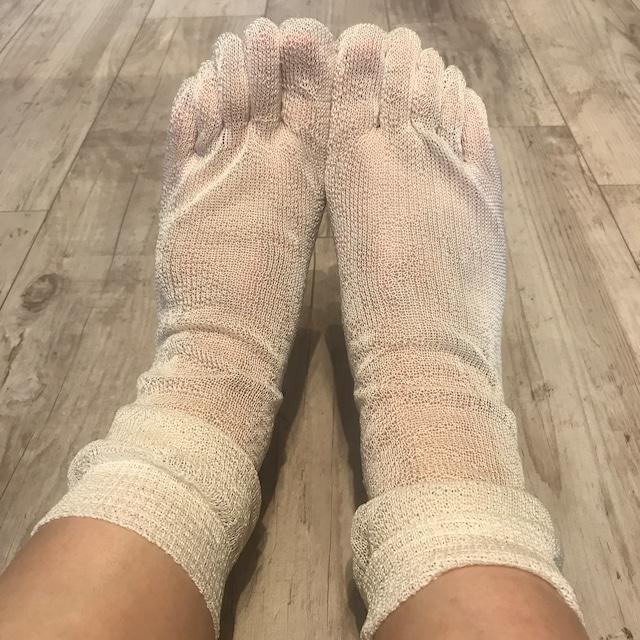 シルク リペア 靴下