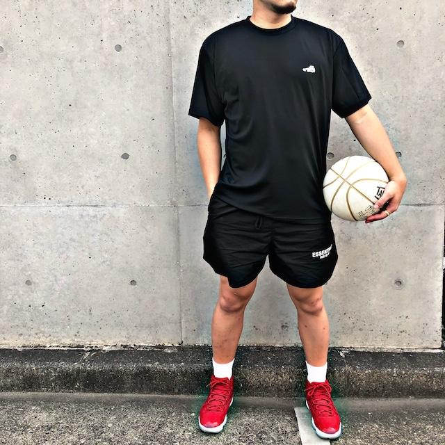 LOGO DRY T-SHIRT / BLACK×WHITE