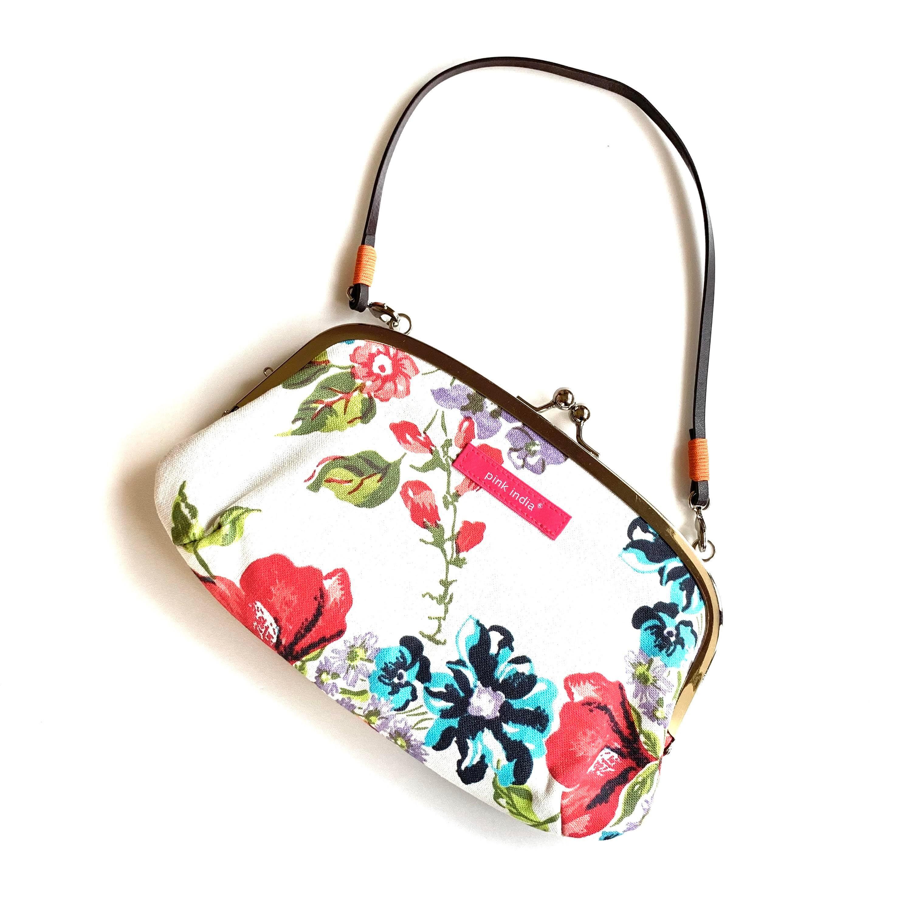 【秀和 x pink india】北欧デザイン ストラップ付がまぐち横長財布 | stella