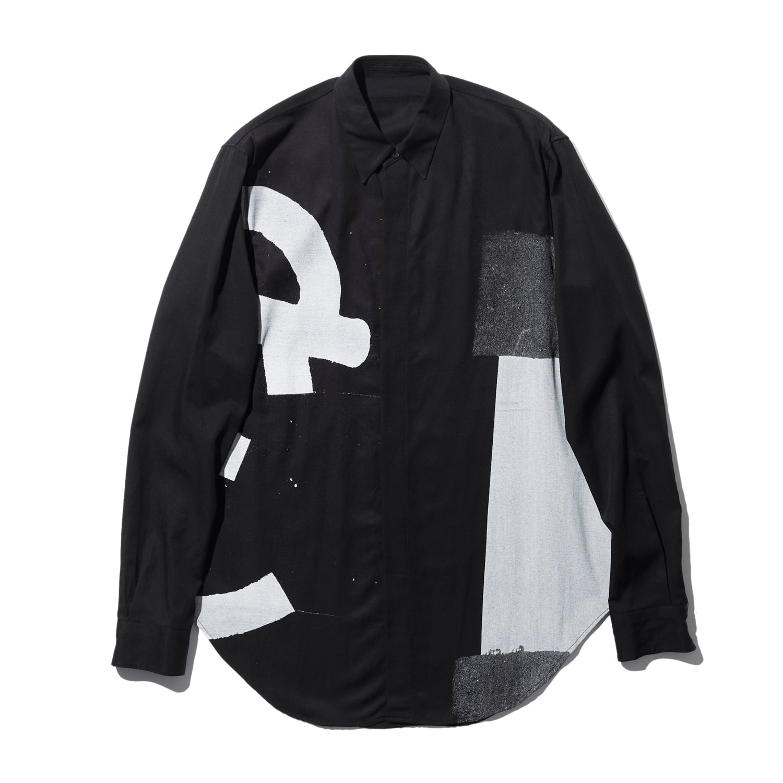 738SHM1-BLACK / [ mamuthones; ] グラフィックシャツ