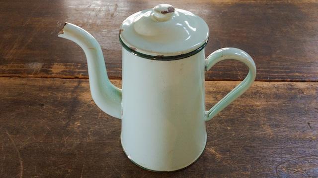 フランスアンティーク 琺瑯 コーヒーポット