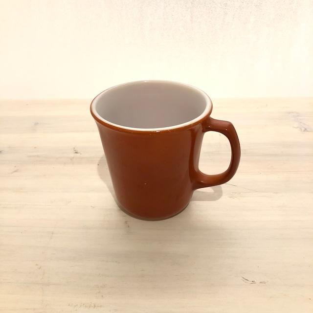 Old PYREX red-brown mug