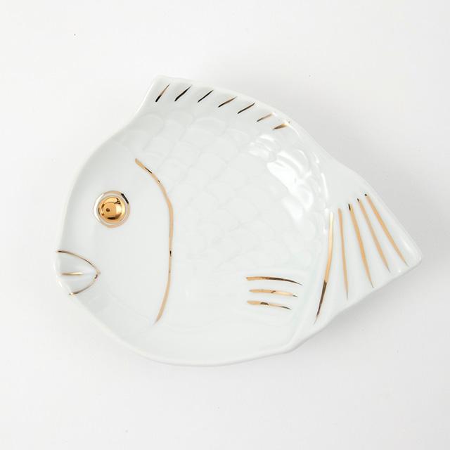 金白  鯛型取皿