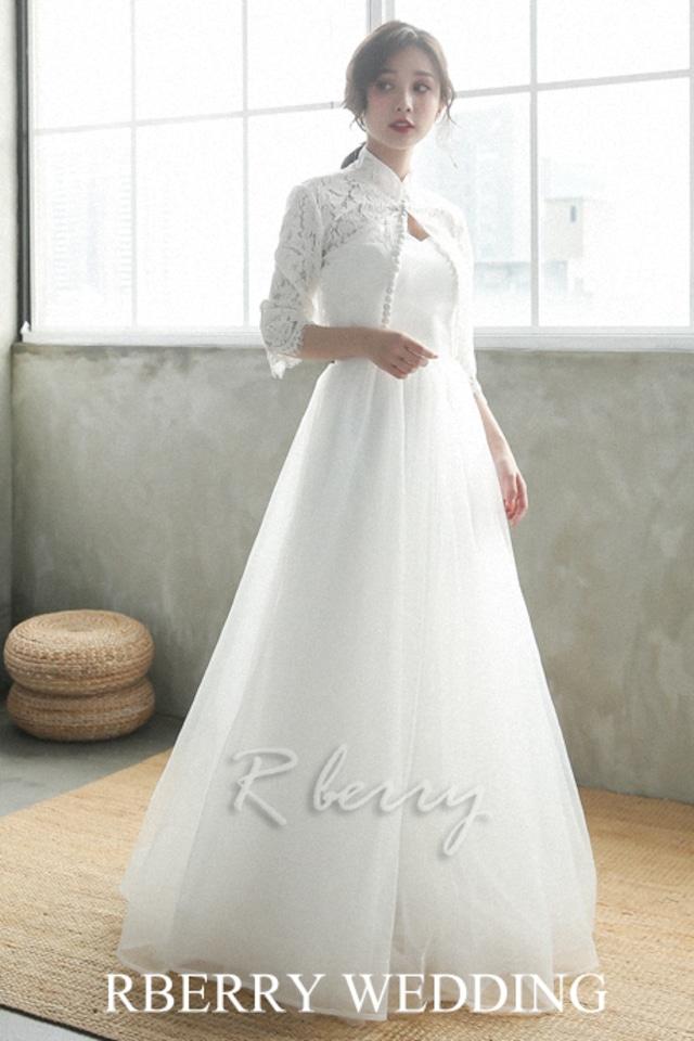 タイトな長袖ボレロで華奢なウエストラインを作る2way セパレート ドレス  (ウェディング 2次会 結婚式)