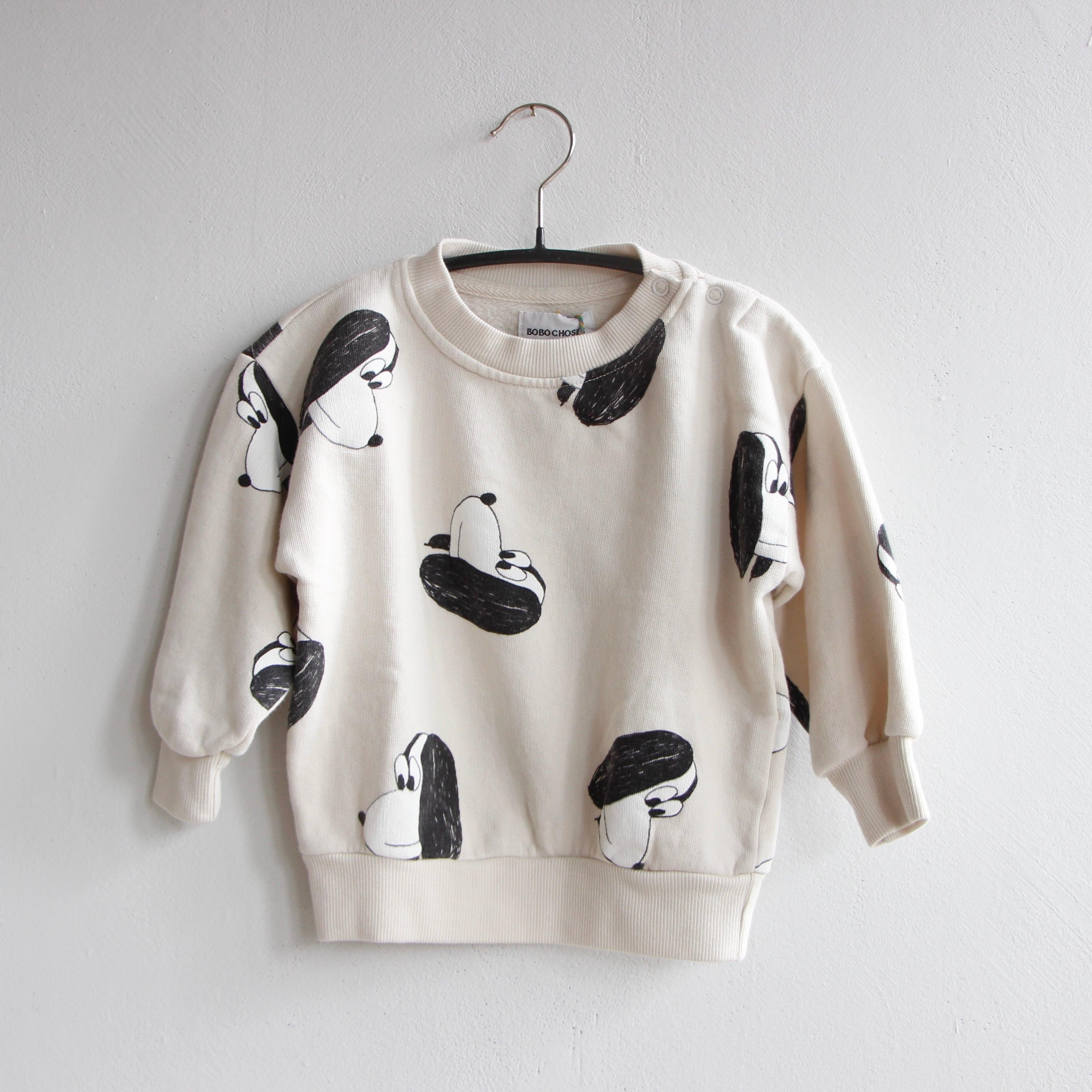 《BOBO CHOSES 2021AW》Doggie All Over sweatshirt / 12-36M