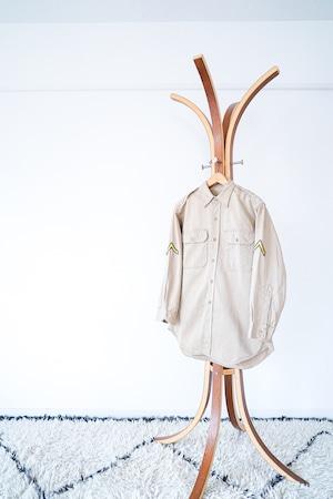 "【1970s】""US Made"" Vintage Military Officer Shirts / v514y"