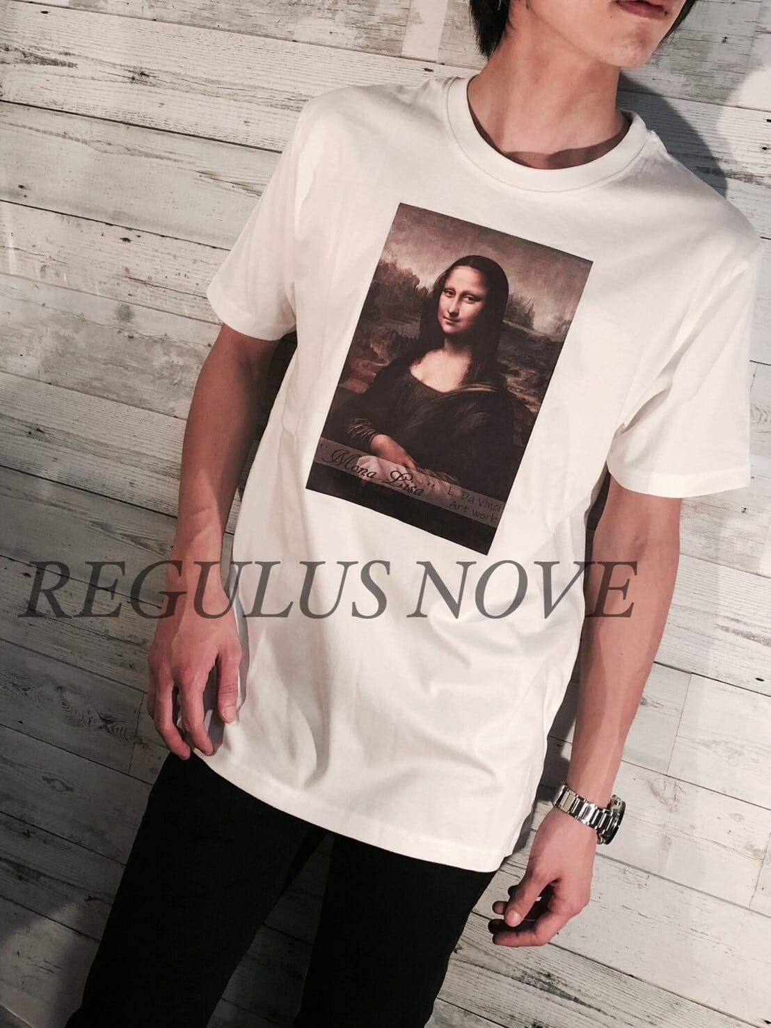 REGULUS NOVE モナ・リザプリントBIGTシャツ ユニセックス レディース メンズ オーバーサイズ 大きいサイズ 派手 個性的 ストリート ロック