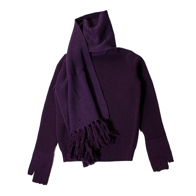 BED J.W. FORD Scarf Knit Sweater