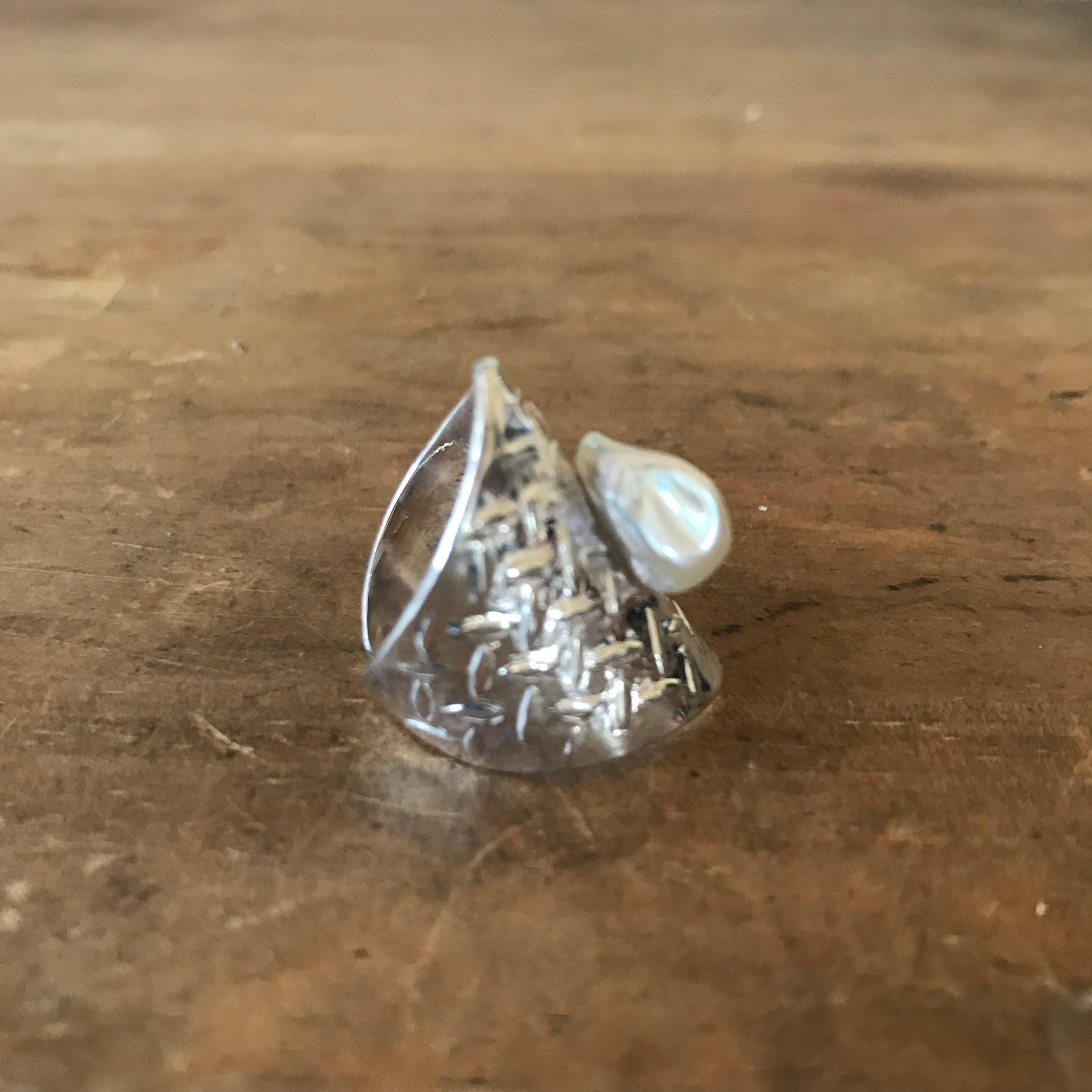 SV pearlringーbaroque ring(order)
