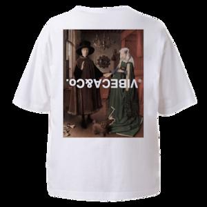 vibeca 【ワイドフィット】絵画ポケットTシャツ white