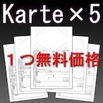 【Karte × 5】(まとめ購入がお得)Club Diary / キャバ嬢 ホステス手帳 クラブダイアリー