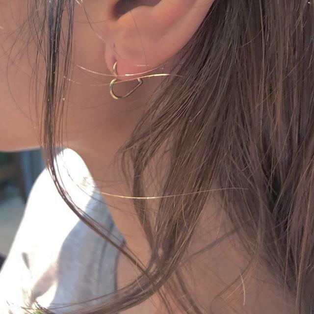 HEART body jewelry 18G/K18YG, K18PG, Pt  #LJ18028P ハート  ボディピアス
