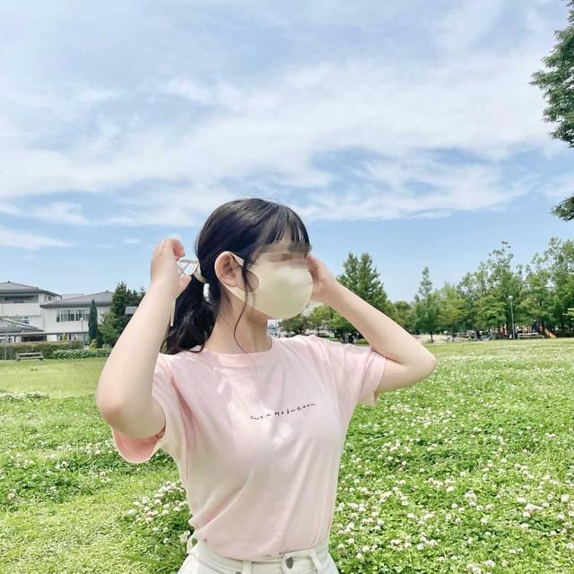 〈人気につき限定再販!〉kanaji×illustration1113 afternoon tea Tシャツ【original】ピーチ