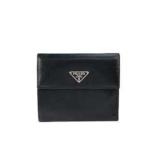 PRADA プラダ ウォレット コンパクト財布 サフィアーノ 財布 ブラック vintage ヴィンテージ Accessories ykvwxw