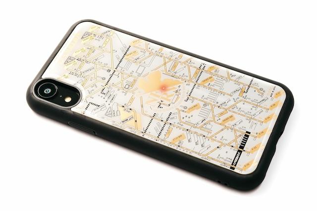 FLASH NERV iPhone XRケース 白【東京回路線図A5クリアファイルをプレゼント】