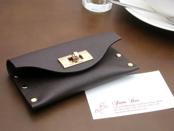 クラッチ・カードケース(名刺入れ) |T式プリズムチョコ