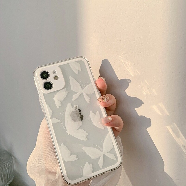 Retro white butterfly iphone case
