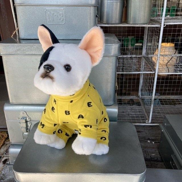 DOG WEAR アルファベットロンパース イエロー