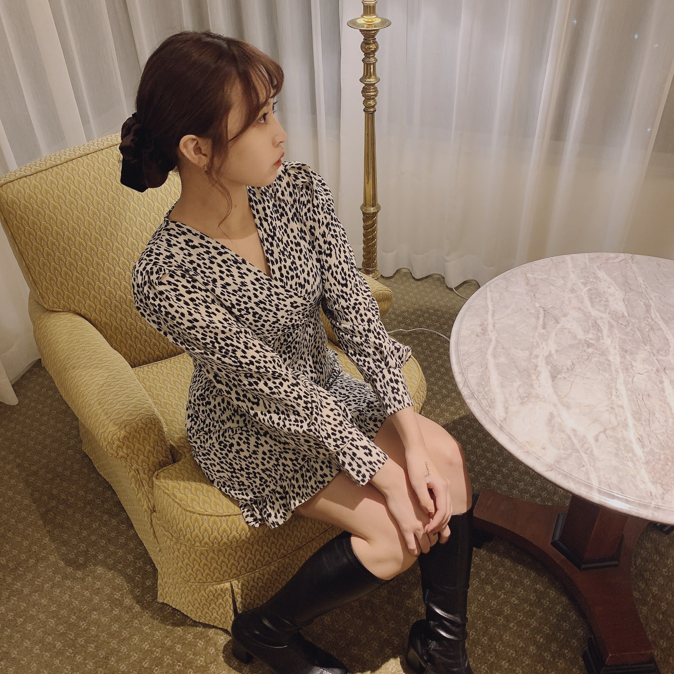 【LAST1】lady leopard onepiece
