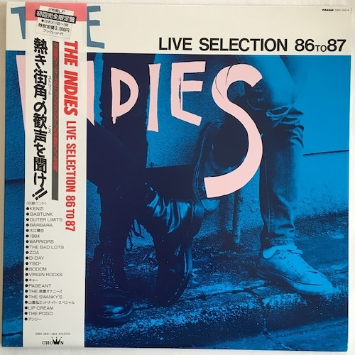 【LP x2・国内盤】Various Artists / The Indies Live Selection 86 To 87