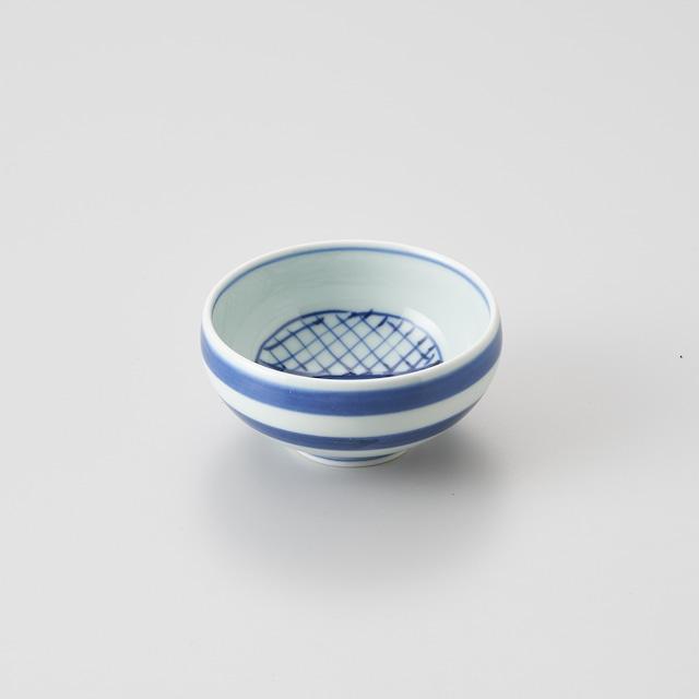 """【青花】""""クラシック異人"""" 丸湯呑(気球船)"""