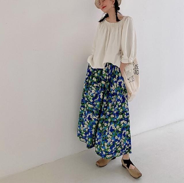 Floral design skirt KRE942