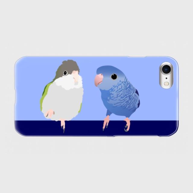 iPhoneケース サザナミインコ & ユウギリインコ【各機種対応】