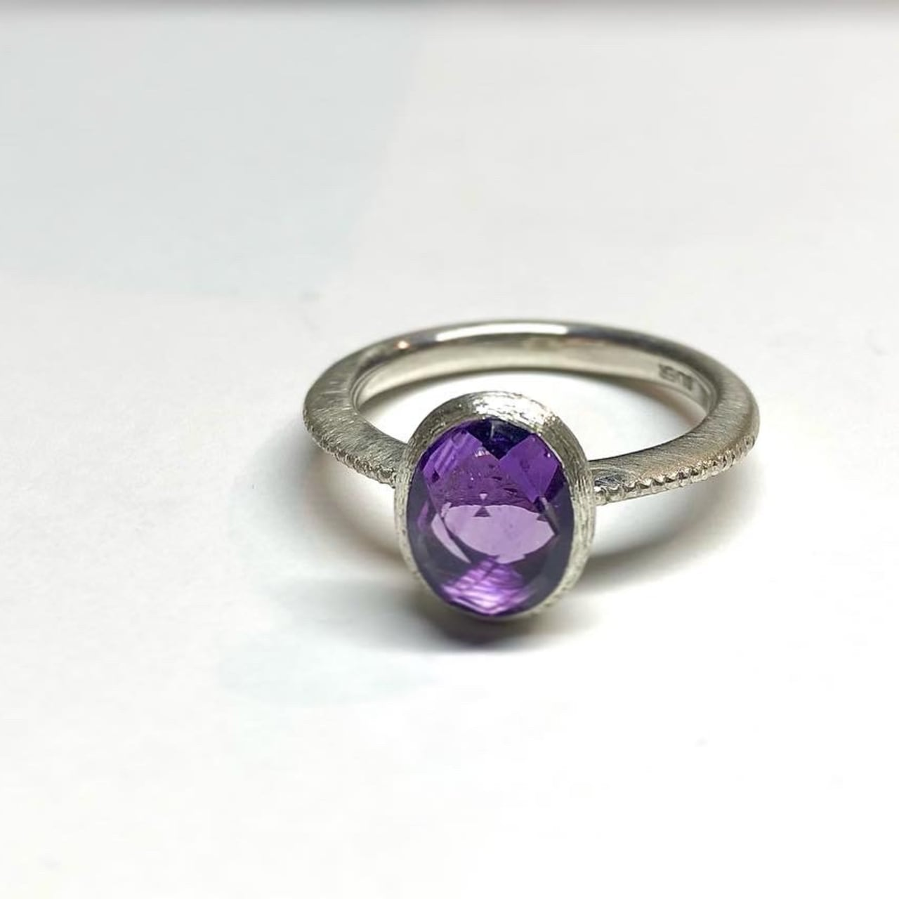 【3OMSV】『One off』 amethyst oval cut ring