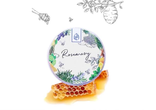 【信州産天然アロマ香る】蜜蝋(みつろう)クリーム【ローズマリー】