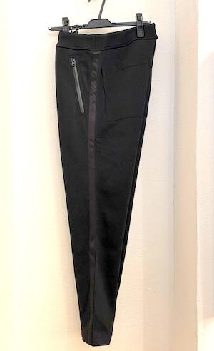 Side Line Sweat Tapered Pants Black