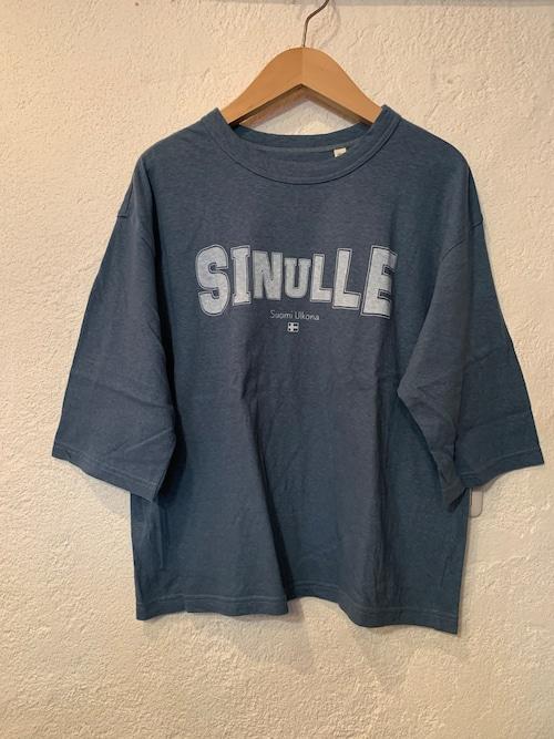 Chloro sister/toujours/プリント5分袖Tシャツ ブルー