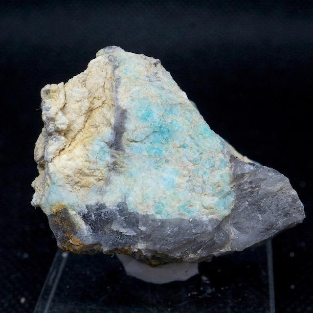 自主採掘!アマゾナイト カリフォルニア産 原石  45,9g AZ0075天河石(てんがせき) 鉱物 天然石