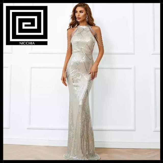 ホルタースパンコールマーメイドドレス
