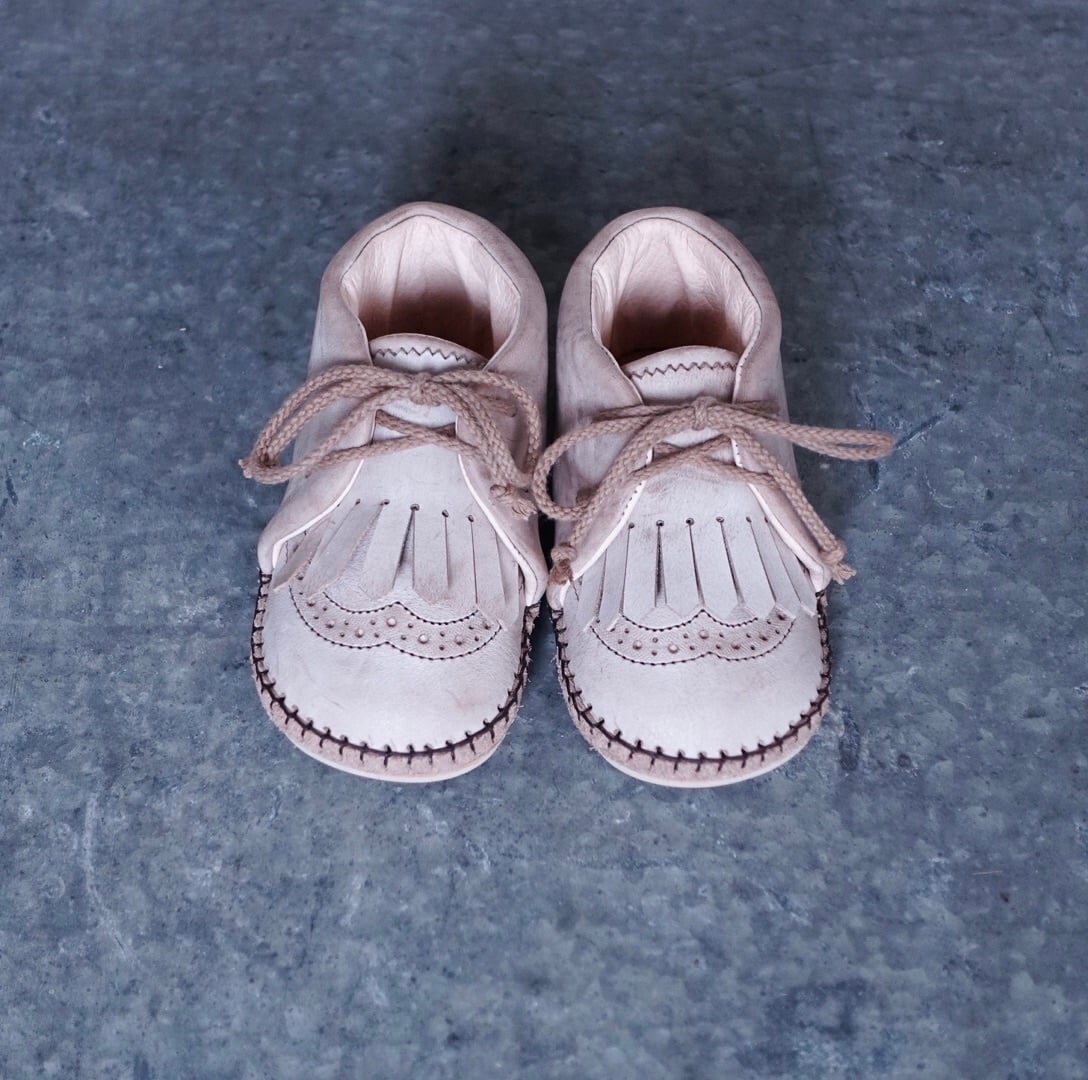 Baby Shoes / Waxd Natural WING TIP / 13cm / Sayū
